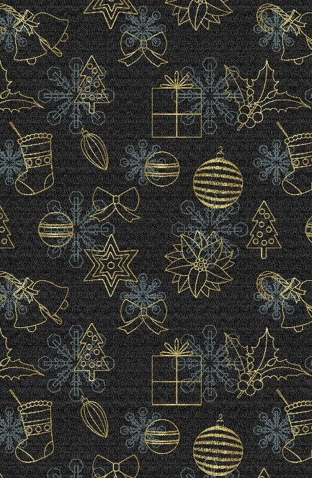 BLACK AND GOLD CHRISTMAS BACKGROUND