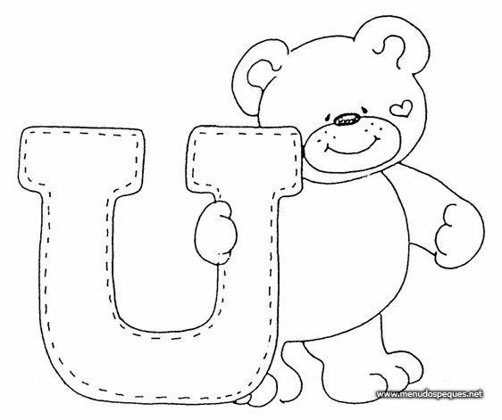 Dibujos para colorear letras | U | Dibujos para recortar y colorear                                                                                                                                                      Más