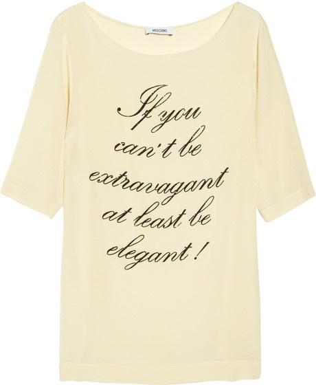 Moschino Printed Silk T-shirt
