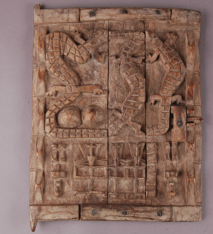 Africa antique dogon granary door mali carved wood for Wood doors south africa