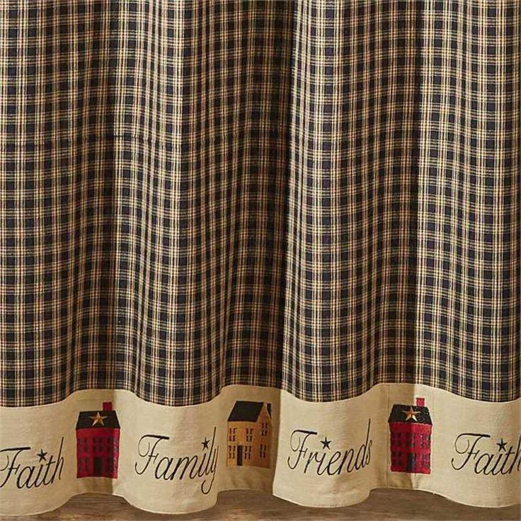 Ebay Sponsored Black Sturbridge Home Shower Curtain 72x72 Faith