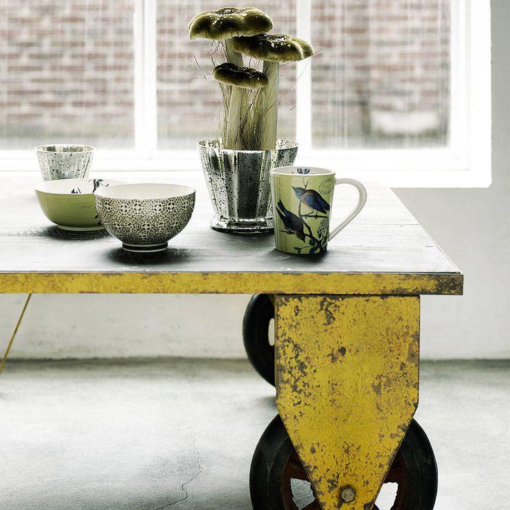 Industrial Coffee Table On Wheels