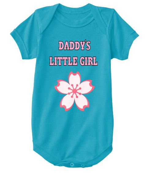 Daddy's   Little Girl Turquoise T-Shirt Front