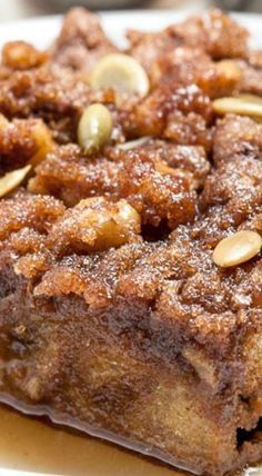 Baked Pumpkin French Toast Casserole ~ This Baked Pumpkin French Toast Casserole is chock full of pumpkin! It has a deliciously crunchy streusel topping and a moist crumb. This is the perfect way to start the morning on weekends and holidays.