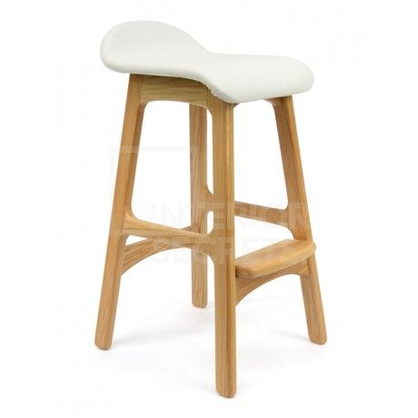 Bar Stool - Erik Buch Replica - White Seat - Natural