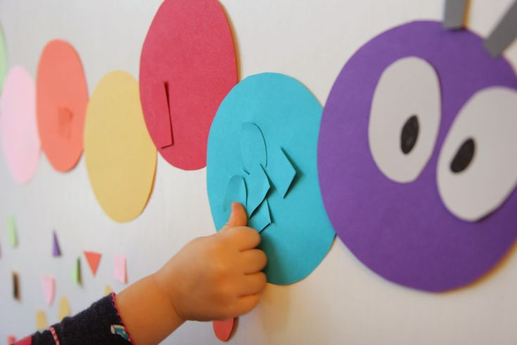 Toddler Approved!: Caterpillar Color Sorting using colored painters tape on a laminated caterpillar makes it reusable.