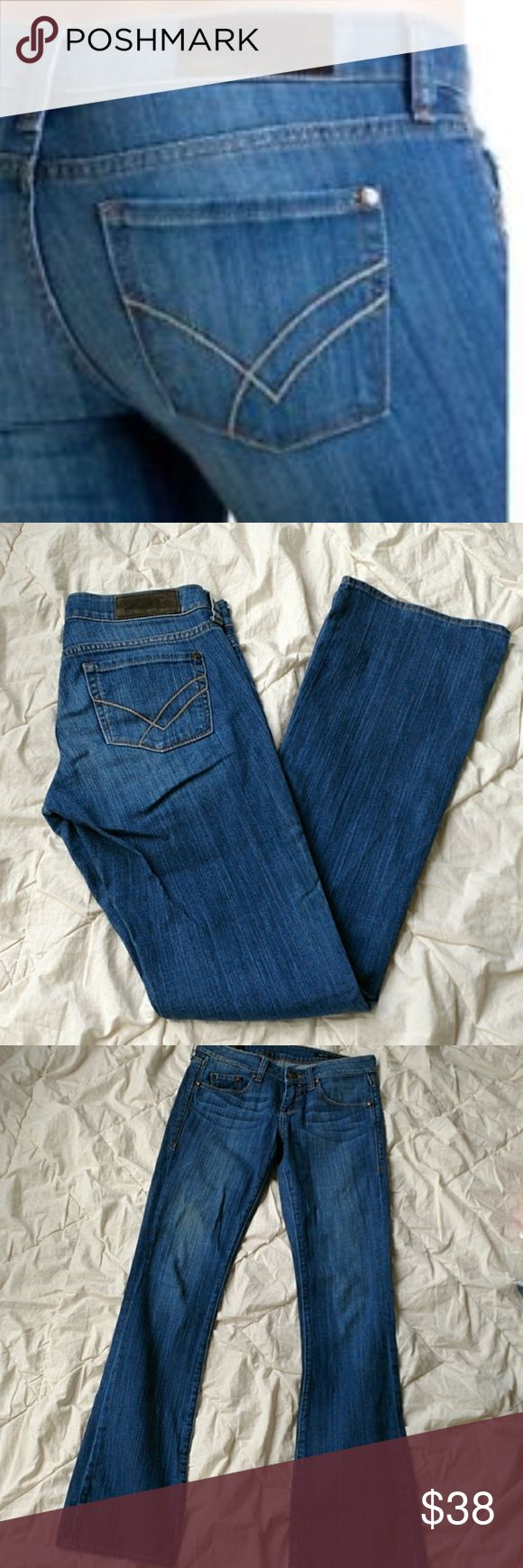 "William Rast | Bootcut Jeans Marmont Madison William Rast women's size 26 'Bootcut Marmont' in Madison. Gently used without flaws.  Flat Lay Waist: 15"" Rise: 8"" Inseam: 33""  J1-108 William Rast Jeans Boot Cut"