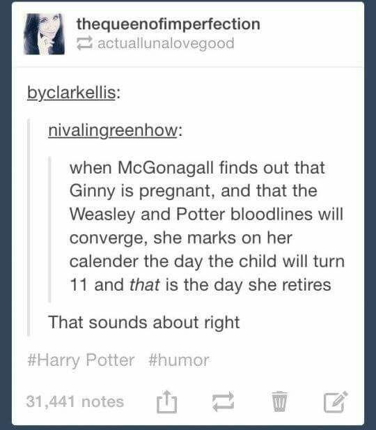 Professor McGonagall lol