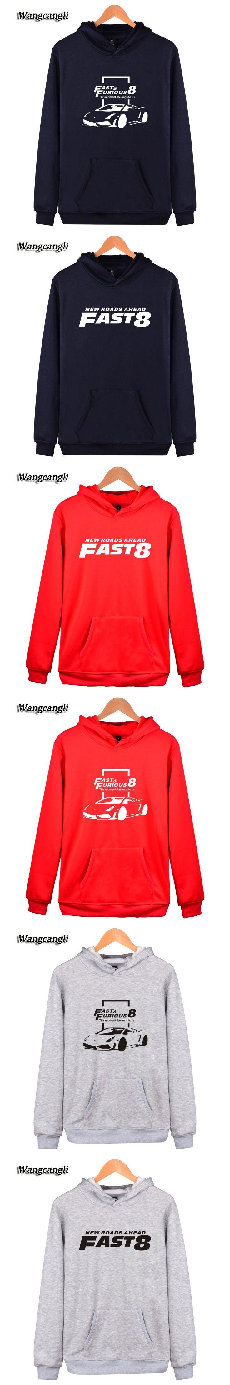 Men/Women Fast & Furious 8 Streetwear Hoodies  Hip hop Hoodies Sweatshirt costume Men Kpop out coat
