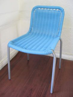 $25 KIDS BLUE CHAIR Outdoor Garden Play Seat 36x29x34cm Text 0411691171 or email info@bitspencer.com