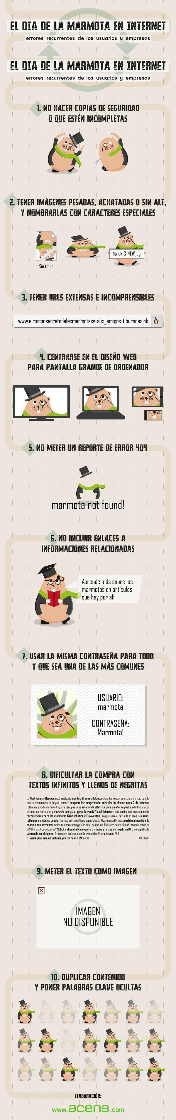 El día de la marmota en Internet #infografia