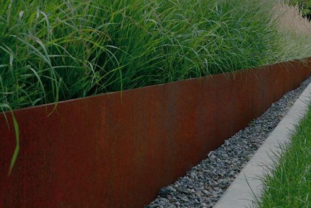 Cortenstaal tuin borderrand