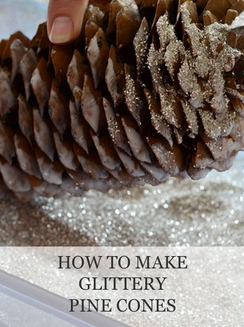 How to Make Glittery Pine Cones | www.missmustardseed.com