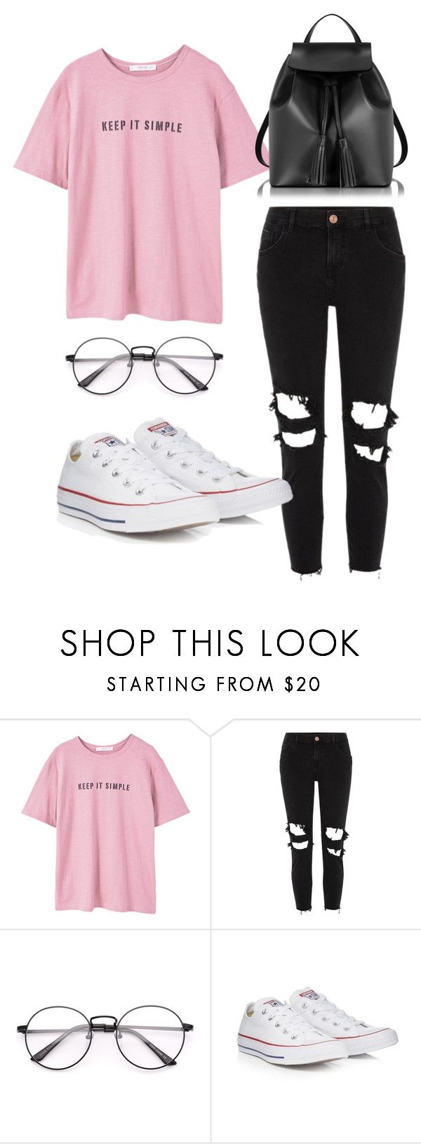 """""""BTS Jin inspired outfit"""" by melaniecrybabyz on Polyvore featuring MANGO, River Island, Converse and Le Parmentier"""