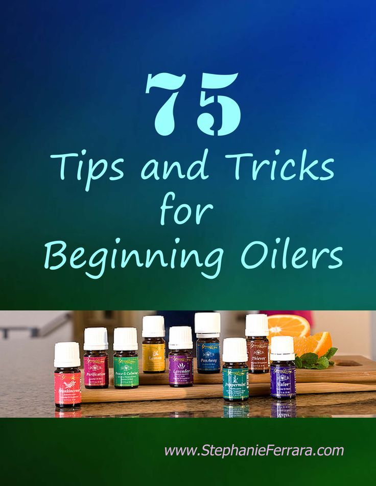 FREE - 75 Tips and Tricks For Beginners - 75 ways to use essential oils in your home and for your health! Get it today at http://www.StephanieFerrara.com/tips-for-beginners