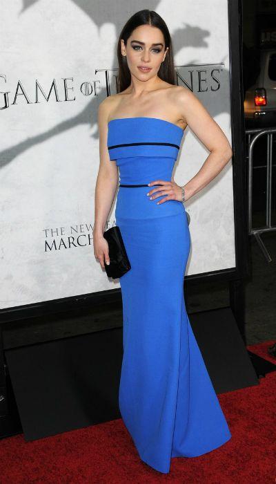 El look de Emilia Clarke en la première de la tercera temporada de Juego de Tronos