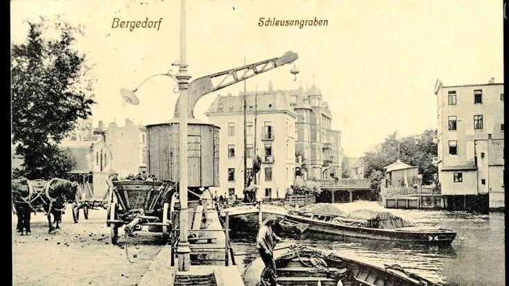 Um 1900 gestaltet die Stadt den neuen Hafen am Serrahn mit