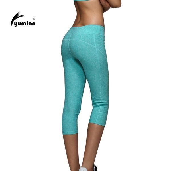 Fitness Three Quater Solid Color Leggings