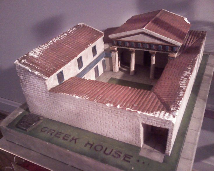 Layout of an ancient greek house