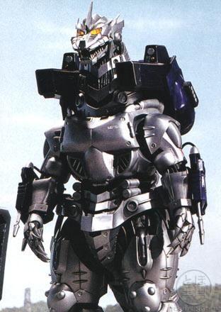 Godzilla Against MechaGodzilla (2002) #27 MechaGodzilla Millennium standing at 60 metres = 196 feet