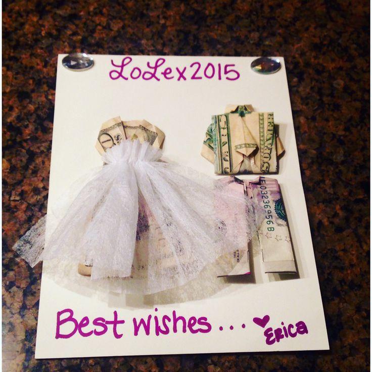 Bridal shower money gift – followed a few origami YouTube videos. I didn't h… – Kreative Geschenke