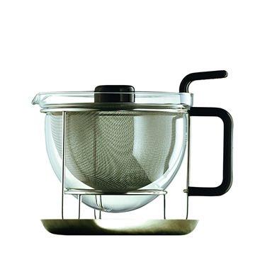 Mono-Classic Teapot in Sterling Silver * Ebony by Tassilo von Grolman (Mono)
