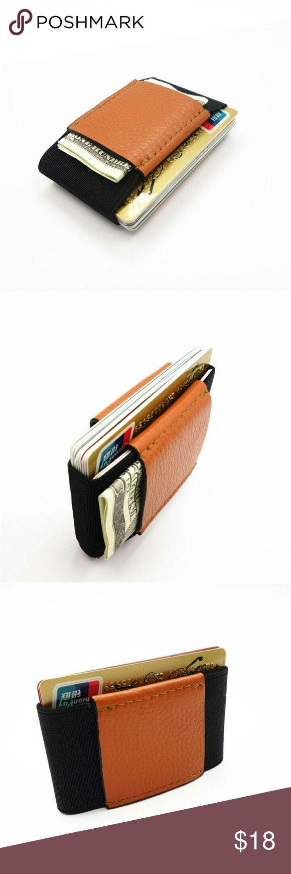 Genuine Leather Minimalist Slim Wallet Bullet Point:  1.Genuine Leather  2.Ultra Thin  3.Fashion Design    Measurement: 9.5cm x 5.5cm x 1.5cm  Flexible material can hold up to 10 cards, easy to save cash  Super minimalist wallet  Unisex for both men & women Bags Wallets