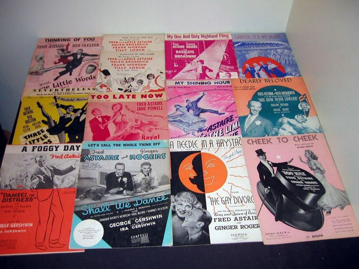 large 13 Fred Astaire Movies lot Gay Divorcee Royal Wedding sheet music. | eBay