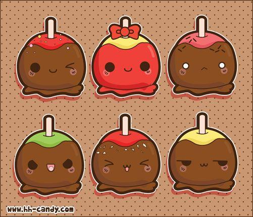 Candy Apple Fun by *A-Little-Kitty on deviantART