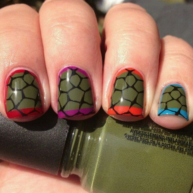 Fancy - teenage mutant ninja turtles nails
