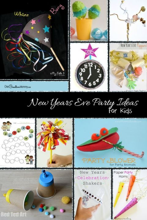 40+ New Years Eve Party Ideas for Kids {A great collection of family New Year's Eve ideas from OneCreativeMommy.com}