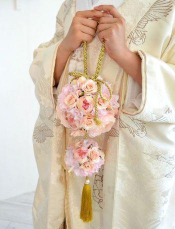 お花のバッグブーケが可愛い♡プロポーズを受けた証のブーケ♪いろいろな形に生まれ変わりました♡
