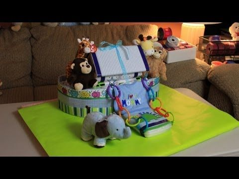 Quick how to video of Thom making a Noahs Ark Diaper cake. Hope you like it! Thanks for watching!   Noahs Ark Diaper Cake (How To Make) Diaper Cake Noah Ark Boat Nappy Cake Baby Shower Gift