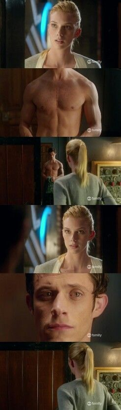"""#Stitchers 1x04 """"I See You"""" - Kirsten and Cameron... Aww cameron has a scar and they didn't even talk about it in the next episode!!!"""