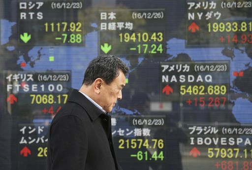 Global shares mostly gain in thin trading  TOKYO (AP)(STL.News) — Shares are mostly higher in Europe and Asia as the last week of trading for the year began Tuesday after Christmas holidays. Most benchmarks stayed in a narrow range.    KEEPING SCOR...