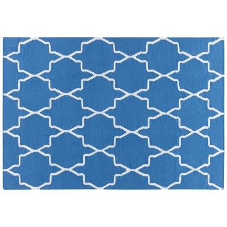 Symmetric Floor Rug 160x230cm  Teal