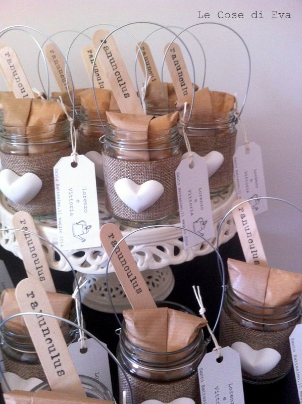 Bomboniere country chic - Lanternine con bulbo #wedding #favors ... Le Cose di Eva