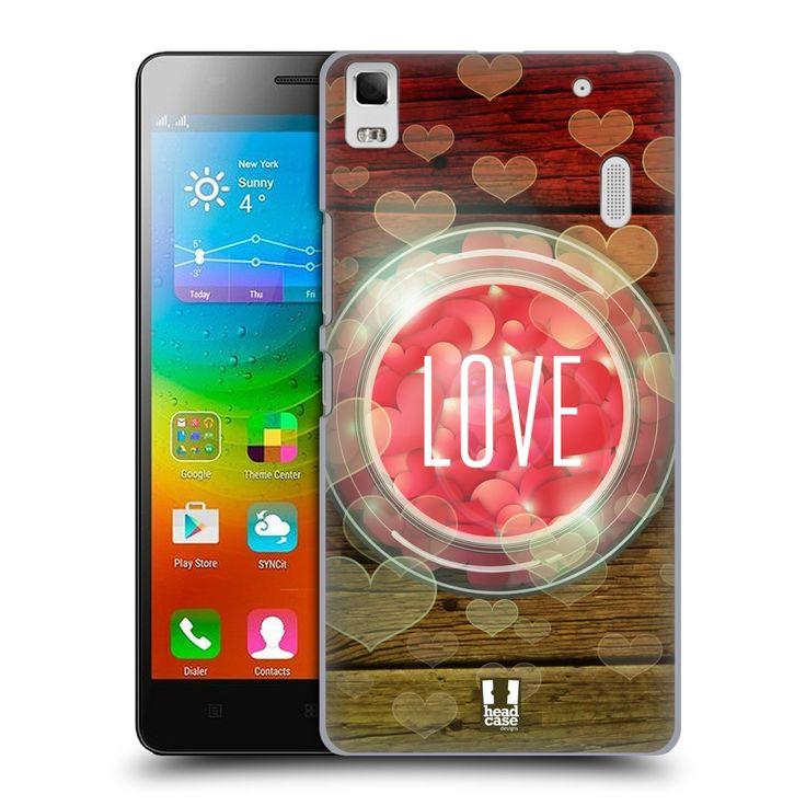Pouzdro na mobil Lenovo A7000 HEAD CASE SKLENICE LOVE
