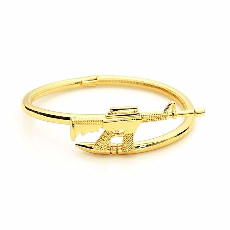 New fashion bangle bracelet AK47 rifles, 316l stainless steel bracelet to love the most best gift