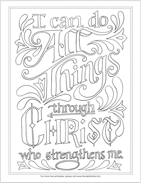 christian stuff coloring pages - photo#1