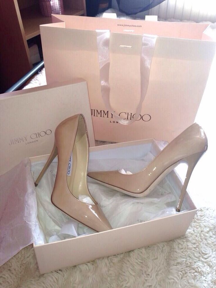 Jimmy Choo Nude Patent Pumps #JimmyChoo #Shoes #Heels #shopping