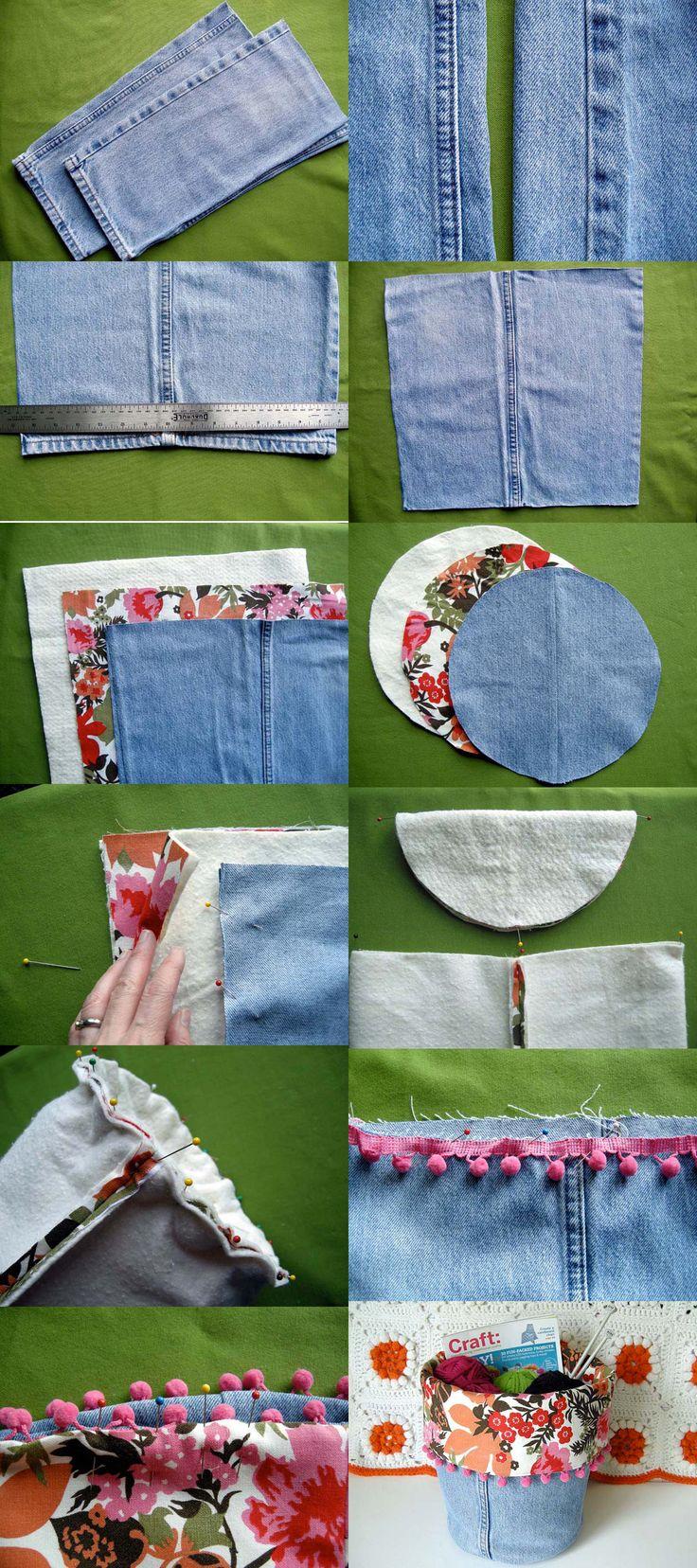 Cestos reciclando jeans