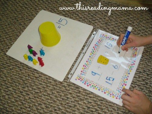Relating addition to subtraction with missing addends, free printable | This Reading Mama
