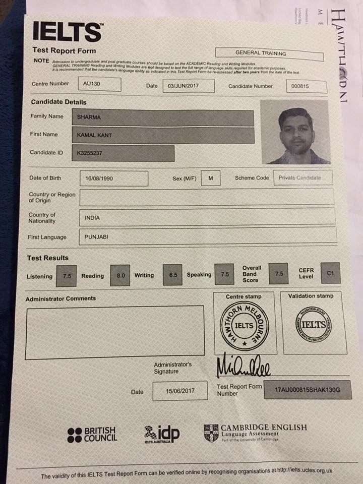 Real Ielts Certificate Ielts Certificates Online Certificate