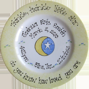 51 best christenings pottery ideas images on pinterest pottery baby gifts baby plates baptism gifts christening gifts personalized and hand painted negle Image collections