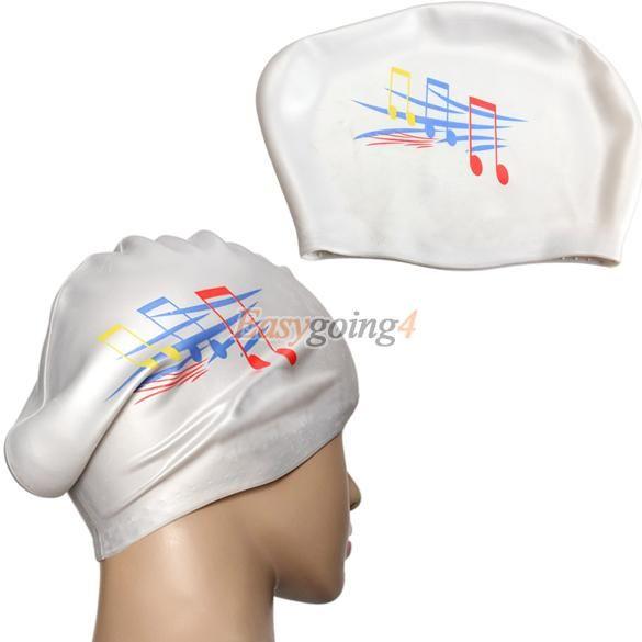 EA14 2016 Новые Женщины и мужчины Универсальный Белый Шапочки Для Купания Силикона шапочка для плавания Водонепроницаемый Защиты Волос Ухо Шапки