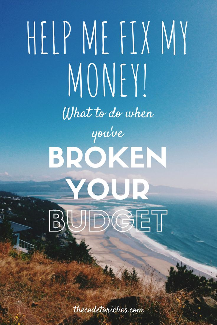 Even the most budget-minded among us sometimes make mistakes. Find out how to get your budget back on track by clicking below! http://thecodetoriches.com/fix-my-money/