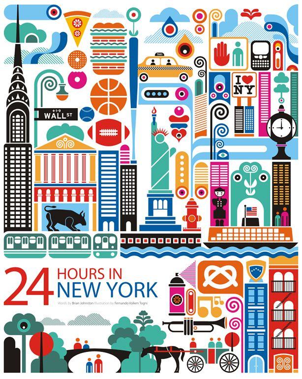 Arte com conteúdo e sensibilidade.  O artista gaucho Fernando Volken Togni, elaborou a série de desenhos 24 hours in... publicado na revista Oryx Magazine. Na