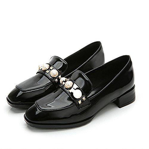 AmazingJP パンプス ローファー チャンキーヒール レディースシューズ 婦人靴 歩きやすい 疲れない