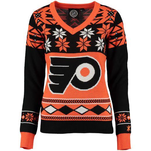 Philadelphia Flyers Women's Orange Ugly Sweater